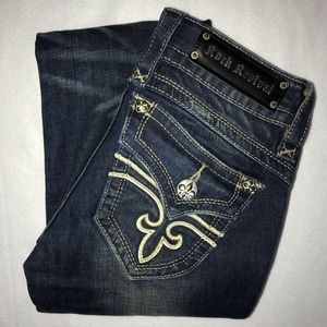Rock Revival Gwen Embroidered Bootcut Jeans 26 33